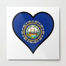 Love New Hampshire Metal Print