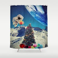 christmas tree Shower Curtains featuring Christmas Tree by Cs025