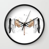 verse Wall Clocks featuring Verse by Chanel Dehond