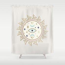 Magical Sun - tarot illustration Shower Curtain
