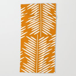 Leaves- minimal Beach Towel