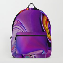 Waves and swirls, abstract, decorative patterns, colorful piece no 23 Backpack