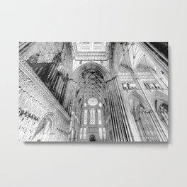 York Minster Art Sketch Metal Print