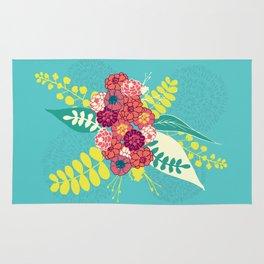 Blue flowers Rug