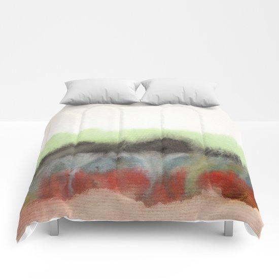 Watercolor abstract landscape 12 Comforters