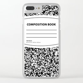 Composition Book Clear iPhone Case