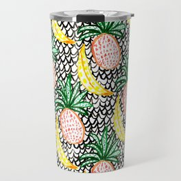 Pineapple and Banana Travel Mug