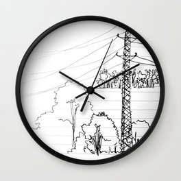 view from train Wall Clock