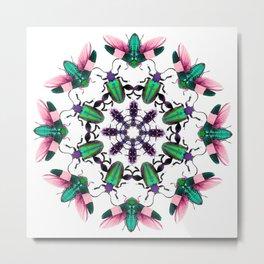 Bug Mandala 2 Metal Print