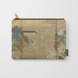 Waves at Matsushima (松島での波) by Tawaraya Sōtatsu (俵屋 宗達) Carry-All Pouch