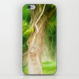 Dream Light Green Tree iPhone Skin