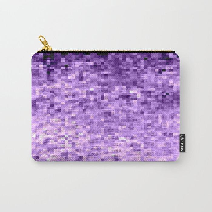 LavendeR Purple Pixels Carry-All Pouch