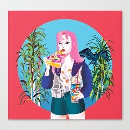 Pizza Girl Canvas Print