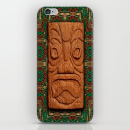 Square Face Tiki iPhone Skin