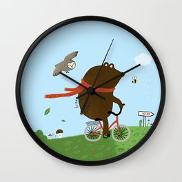 The Bear goes to the City Wall Clock