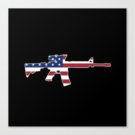 American Flag: M4 Assault Rifle Canvas Print