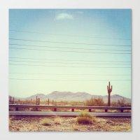 desert Canvas Prints featuring Desert by Whitney Retter