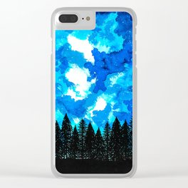 Moonlit Shadow Clear iPhone Case