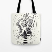 revolution Tote Bags featuring Revolution! by Rilke Guillén