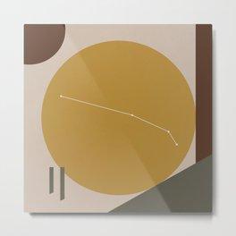 ARIES (MID-CENTURY MODERN ART) Metal Print