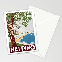 Vintage Nettuno Italy Travel Poster Stationery Cards