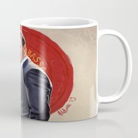 eames Mugs featuring Inception - Mr Eames by Mel Hampson