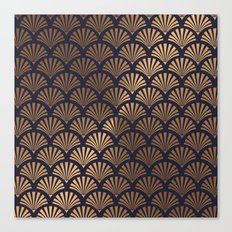 Art Deco Shell Pattern Canvas Print