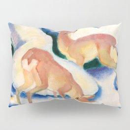 """Franz Marc """"Deer in the Snow"""" Pillow Sham"""