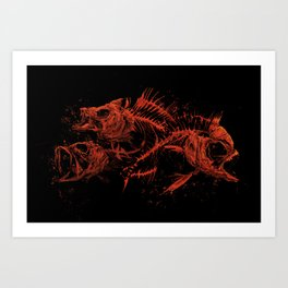 red fishes Art Print