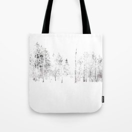 Trees in Winter Vignette | Prospect Landscape | Nadia Bonello | Canada Tote Bag