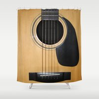 guitar Shower Curtains featuring Guitar by Nicklas Gustafsson