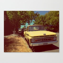 Vintage yellow Ford in Oakland, CA Canvas Print