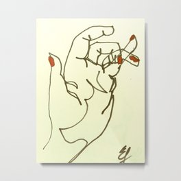 Hand4 Metal Print