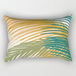 Golden Hour Palms Rectangular Pillow