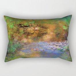 Fantasy Lake Stream Rectangular Pillow