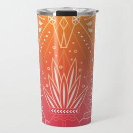 Santa Fe Garden – Orange Sunset Travel Mug