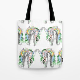 The flowers twins Tote Bag