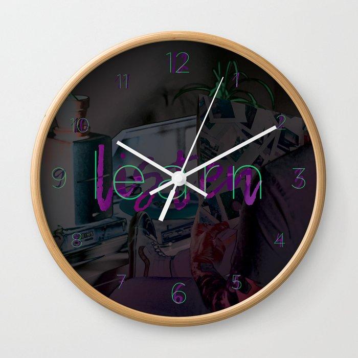 Learn / Listen Wall Clock