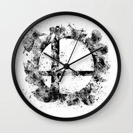 Super Smash Bros Ink Splatter Wall Clock