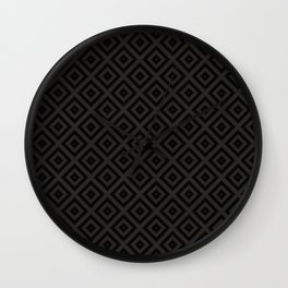 V23 Black Texture Lovely Traditional Pattern. Wall Clock
