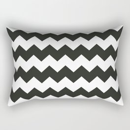 Black & white chevron pattern Rectangular Pillow