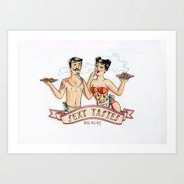 Sexy Tastes Art Print