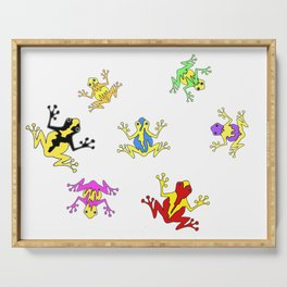 Frogs toads Super Colorful Cute Serving Tray
