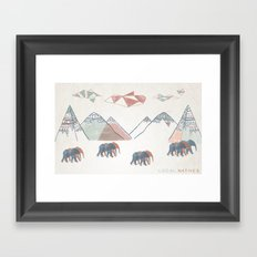 Local Natives Framed Art Print