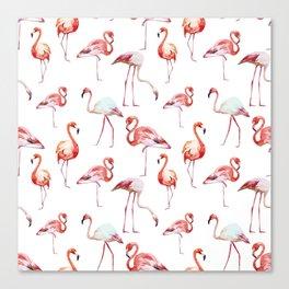 Pink Flamingo pattern Canvas Print