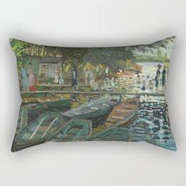 Bathers at La Grenouillere by Claude Monet Rectangular Pillow