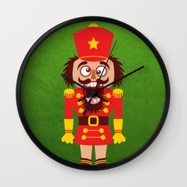 A Christmas nutcracker breaks its teeth and goes nuts Wall Clock