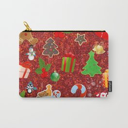 Cute Christmas Mix, red Carry-All Pouch