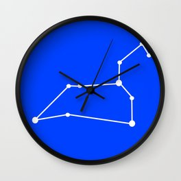 Leo (White & Blue) Wall Clock