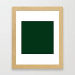 Dark green 2 Framed Art Print
